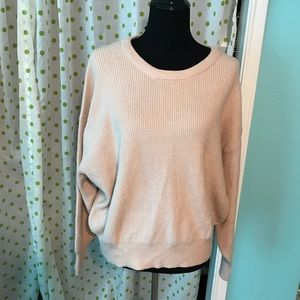 ZARA Bow back Pink Sweater